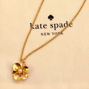 NWT! KATE SPADE Pick a Posy Necklace-GoldMulti
